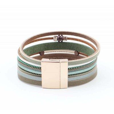 """Armband """"Würfel & Tube"""" wickeln grün"""