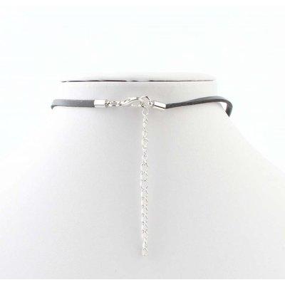 "Necklace ""Pearl"" black/silver"