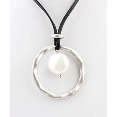 """Necklace """"Pearl"""" black/anthracite"""