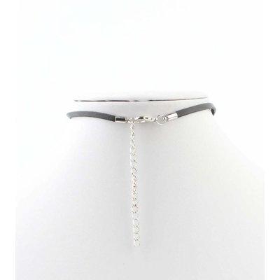 """Halskette """"Perle"""" schwarz/anthrazit"""
