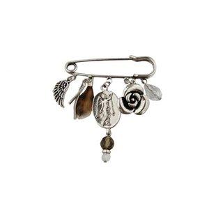 Brooch ''Beads'' silver