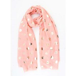 """Sjaal """"Metallic dots"""" roze"""