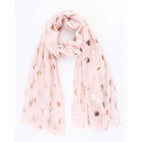 """Sjaal """"Metallic dots"""" licht roze"""