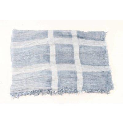 """Sjaal """"Gestreept"""" jeans blauw"""