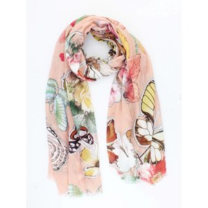 """Scarf """" Butterfly """" pink"""