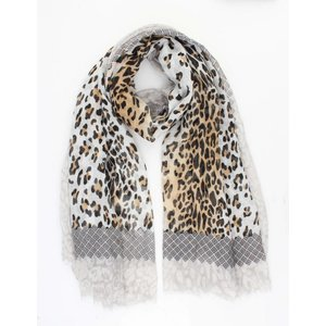 """Scarf """" Mixed Animal """" taupe"""