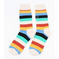 "Herren Socken ""Streifen"" taupe"