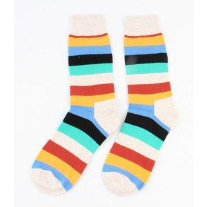 """Heren sokken """"Streep"""" taupe"""