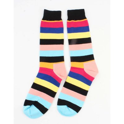 "Heren sokken ""Streep"" zwart"