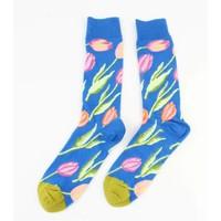 """Heren sokken """"Tulp"""" blauw"""