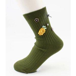"Socken ""Ananas"" grün"
