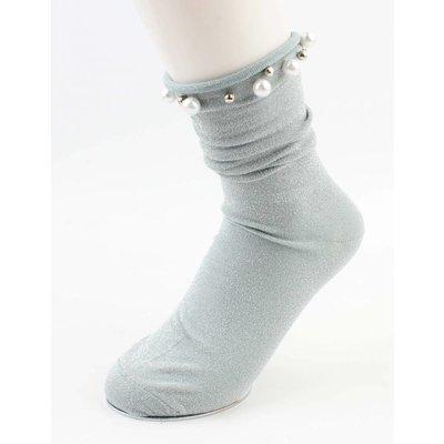 """Socken """"Happy Perlen"""" mintgrün pro 2 Paar"""