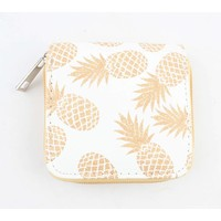 "Mini wallet "" Pineapple "" yellow"