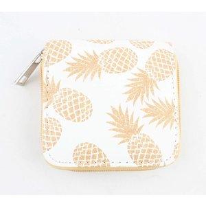 "Mini portemonnee ""Ananas"" geel"