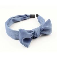 """Hairband """" Velvet """" denim blue per 2pcs"""