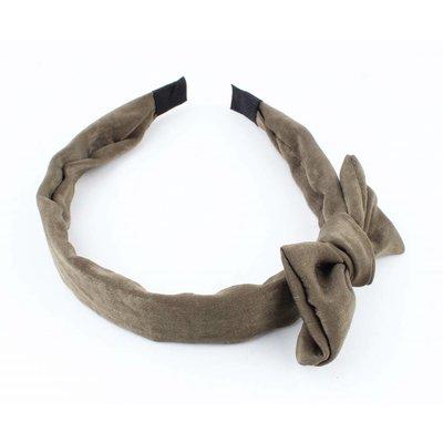 "Haarband ""Velvet"" kakhi grün pro 2 Stück"