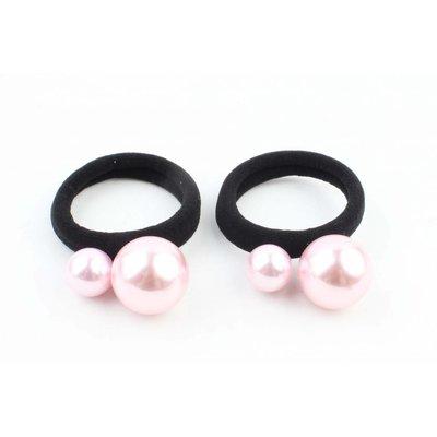 """Hair elastics """" Balls """" pink per 2pcs"""