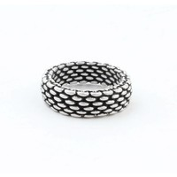 "Metal ring "" Lya "" old silver"