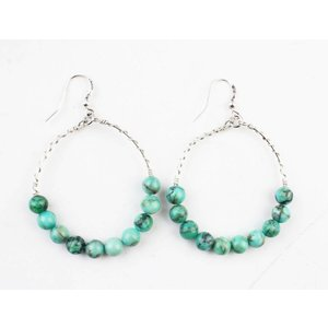 "Earring ""Natural stone"" turquoise"