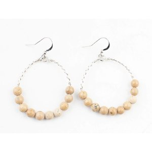 "Earring ""Natural stone"" moonstone"