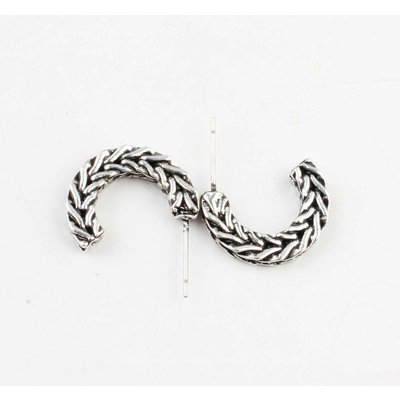 "Metal earring "" Sanja "" old silver"