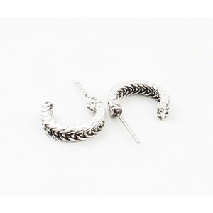 "Metal earring "" Ayliz "" old silver"