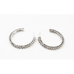 "Metal earring "" Noé "" old silver"