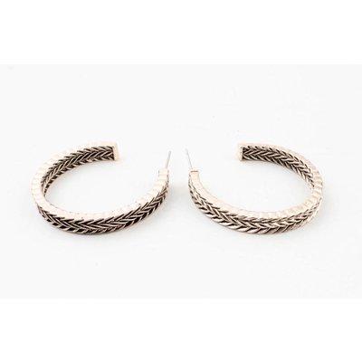 "Metal earring ""Yeliz"" rosé"