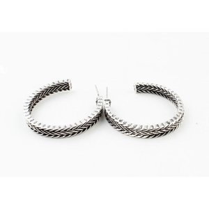 "Metal earring ""Yeliz"" old silver"