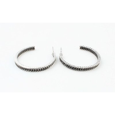 "Metal earring ""Filiz"" old silver"