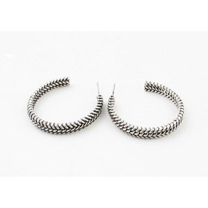 "Metal earring "" Dalya "" old silver"
