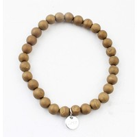 "Bracelet natural stone ""Yellow Tigereye"" mat gold"