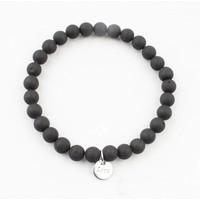 """Bracelet natural stone """"Black Onyx"""" mat black"""
