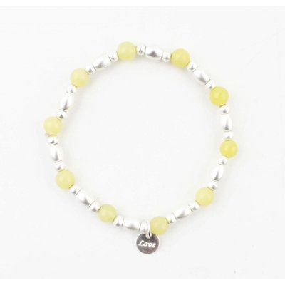 "Armband ""Love"" geel"