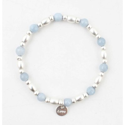 "Armband ""Love"" blau"