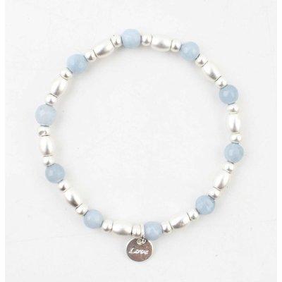 "Armband ""Love"" blauw"