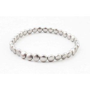 """Armband """"Estee"""" mat zilver"""