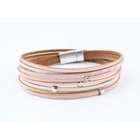 "Wickel-Armband Leder ""Reeva"" rosa"