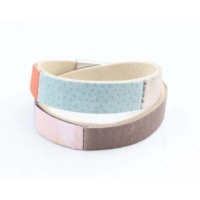 """Wickel-Armband Leder """"Nella"""" multi farben"""