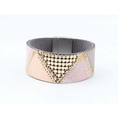 "Bracelet leather "" Niva "" pink"