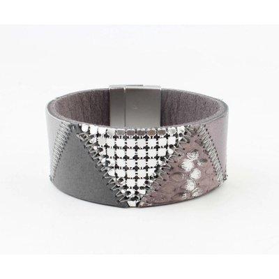 "Bracelet leather "" Niva "" grey"