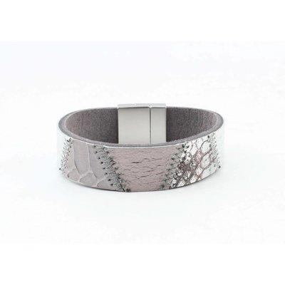 """Bracelet leather """" Kamila """" grey"""