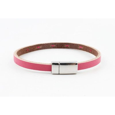 "Armband Leder ""Aster"" rosa"