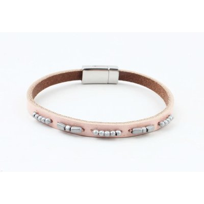 """Bracelet leather """" Aster """" light pink"""