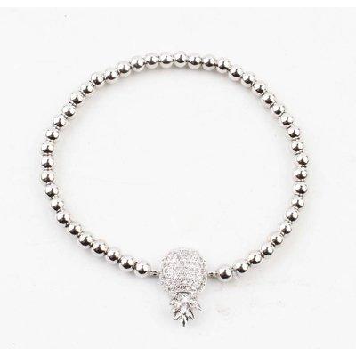 "Armband ""Janet"" glanzend zilver"