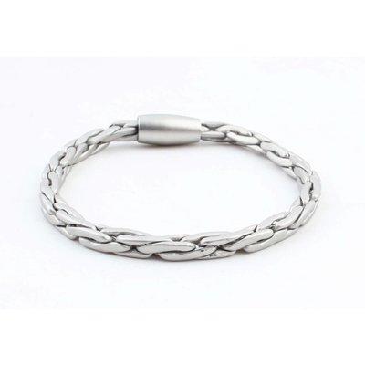 """Bracelet """" Dan """" matt silver"""