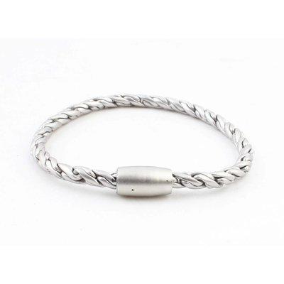 """Armband """"Kendra"""" mat zilver"""