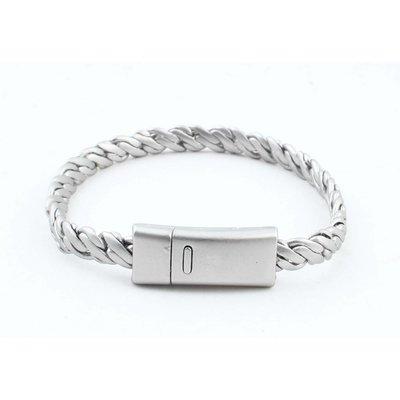 """Armband """"Zina"""" mat zilver"""