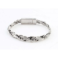 "Armband ""Djuna"" glanzend zilver"