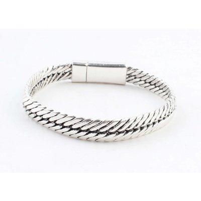 "Armband ""Gaia"" glanzend zilver"